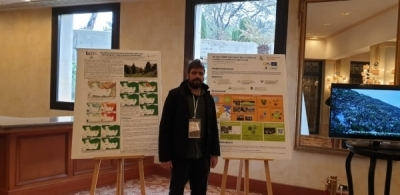 Researcher Guillermo Palacios presents the LIFE Forest CO2 project in Lebanon