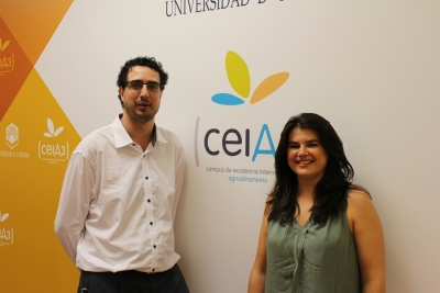 Ruben Valbuena, with Angeles Gámiz, ceiA3 International Relations technician
